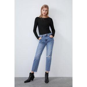 Zara Hi-Rise Ripped Jeans Size 6